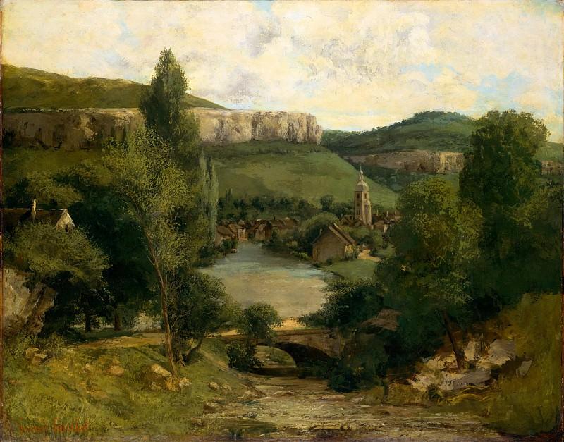Gustave Courbet - View of Ornans. Metropolitan Museum: part 3
