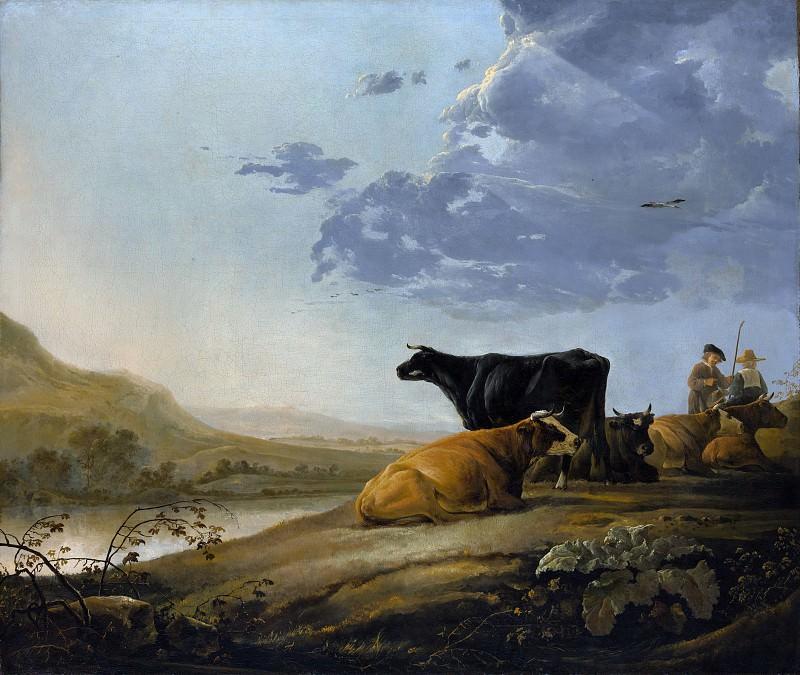 Aelbert Cuyp - Young Herdsmen with Cows. Metropolitan Museum: part 3