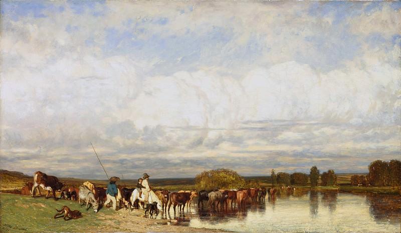 Жюль Дюпре - Коровы идут бродом. Музей Метрополитен: часть 3