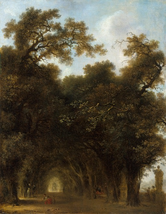 Jean Honoré Fragonard - A Shaded Avenue. Metropolitan Museum: part 3