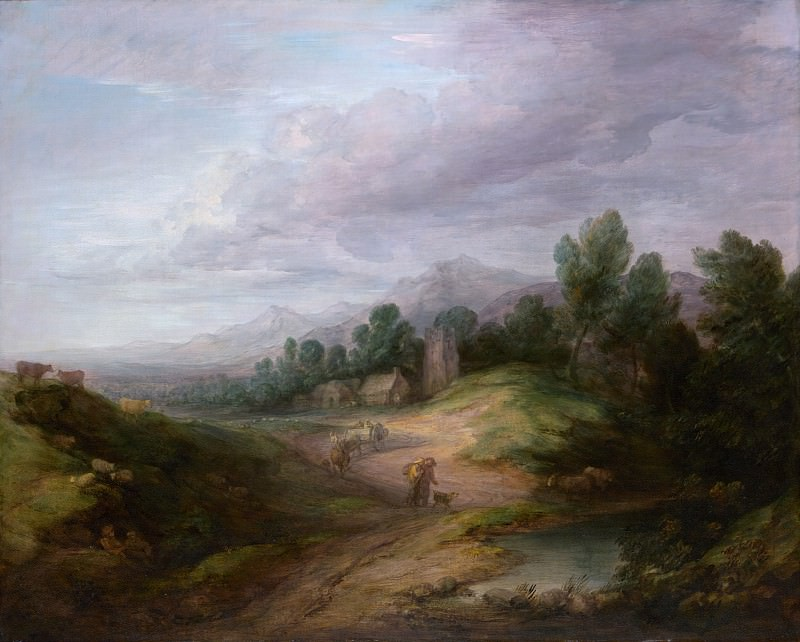 Thomas Gainsborough - Wooded Upland Landscape. Metropolitan Museum: part 3