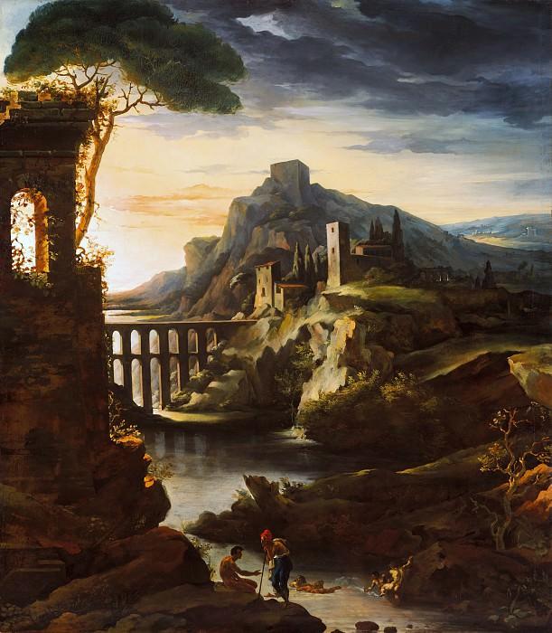 Théodore Gericault - Evening: Landscape with an Aqueduct. Metropolitan Museum: part 3