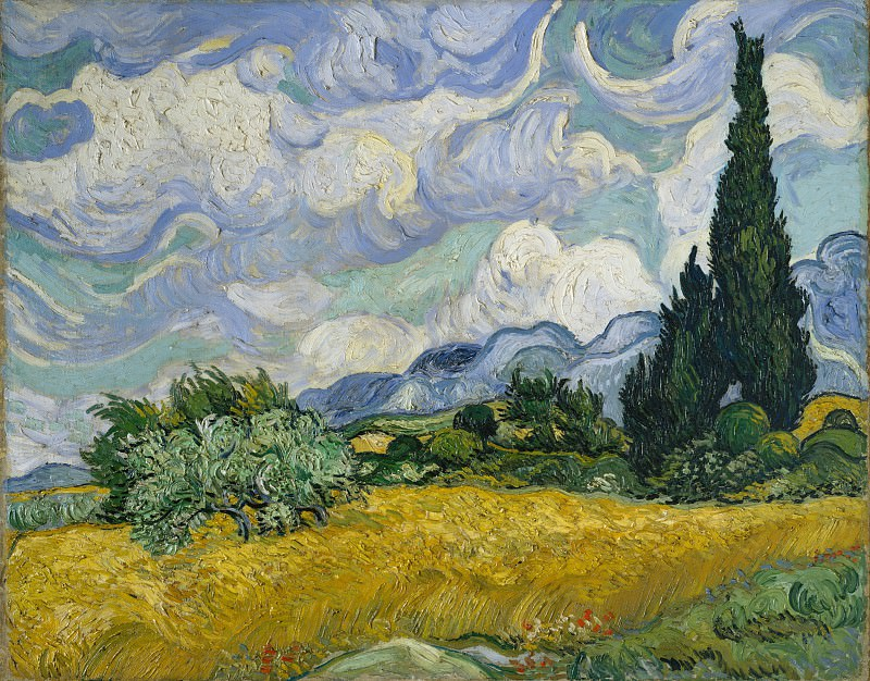 Vincent van Gogh - Wheat Field with Cypresses. Metropolitan Museum: part 3