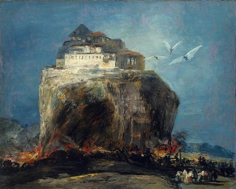 Style of Goya - A City on a Rock. Metropolitan Museum: part 3