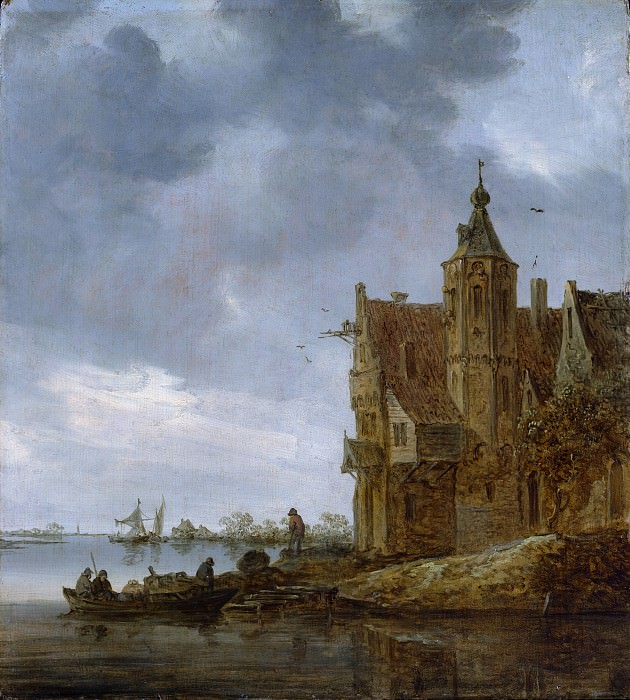 Jan van Goyen - Country House near the Water. Metropolitan Museum: part 3
