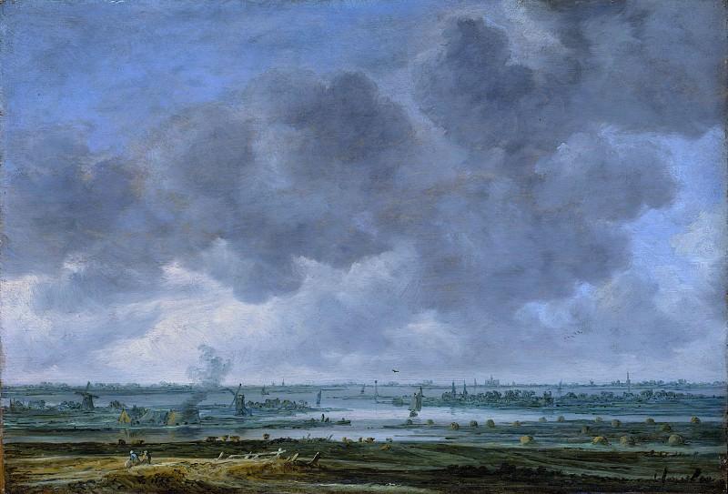Ян ван Гойен - Вид Харлема и Харлемермира. Музей Метрополитен: часть 3