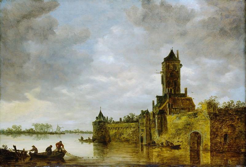 Jan van Goyen - Castle by a River. Metropolitan Museum: part 3