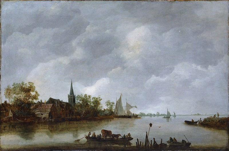 Style of Jan van Goyen - River View with a Village Church. Metropolitan Museum: part 3