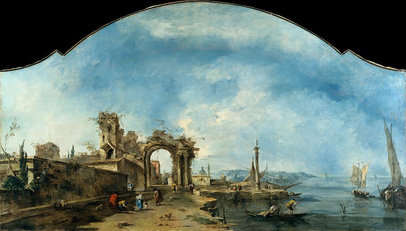 Francesco Guardi - Fantastic Landscape. Metropolitan Museum: part 3