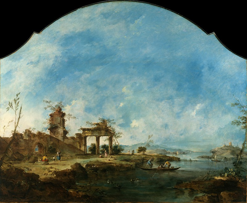 Francesco Guardi - Fantastic Landscape. Metropolitan Museum: part 3