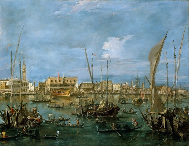 Francesco Guardi - Venice from the Bacino di San Marco. Metropolitan Museum: part 3