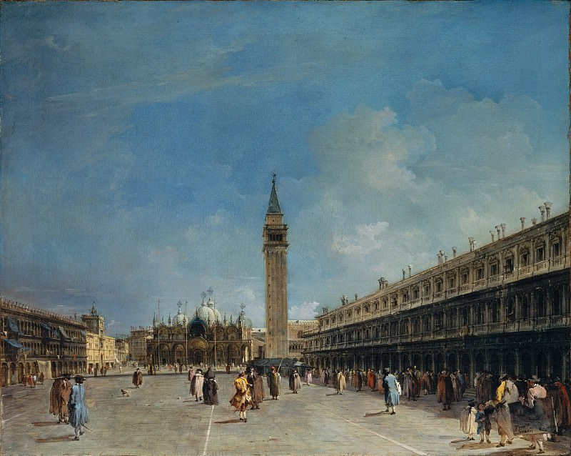 Francesco Guardi - Piazza San Marco. Metropolitan Museum: part 3