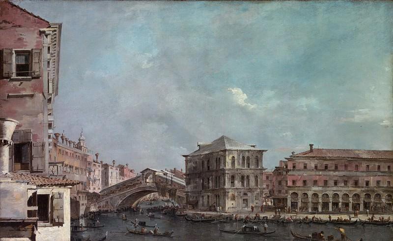 Франческо Гварди - Гранд-канал над Риальто. Музей Метрополитен: часть 3