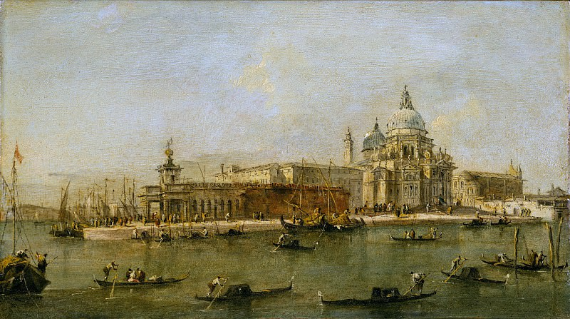 Workshop of Francesco Guardi - Venice: The Dogana and Santa Maria della Salute. Metropolitan Museum: part 3