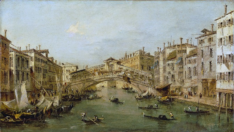 Workshop of Francesco Guardi - Venice: The Rialto. Metropolitan Museum: part 3