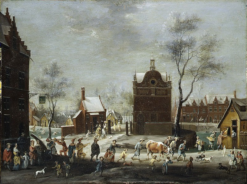 Peeter Gysels - A Winter Carnival in a Small Flemish Town. Metropolitan Museum: part 3