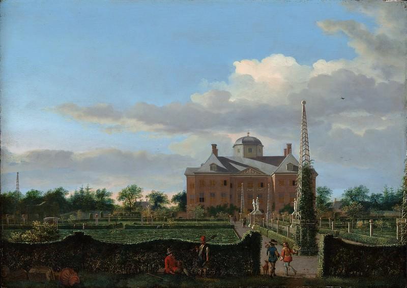 Ян ван дер Хейден - Хью тен Бош в Гааге и Формальном саду (вид с юга). Музей Метрополитен: часть 3