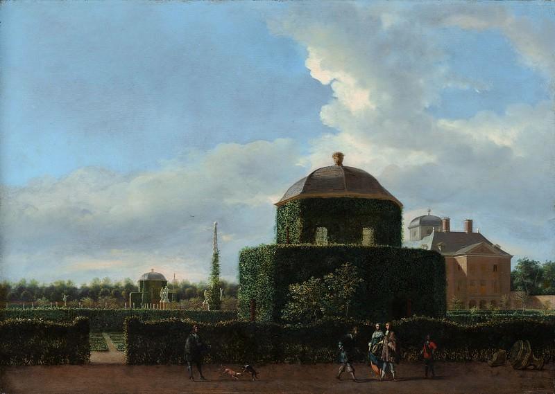 Ян ван дер Хейден - Хью тен Бош в Гааге и Формальном саду (вид с востока). Музей Метрополитен: часть 3