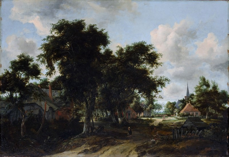 Meyndert Hobbema - Entrance to a Village. Metropolitan Museum: part 3