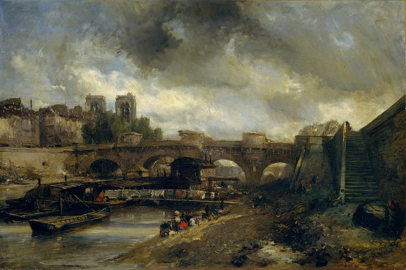 Johan Barthold Jongkind - The Pont Neuf. Metropolitan Museum: part 3