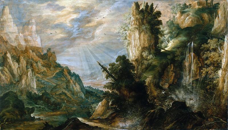 Керстиан де Кейник - Горный пейзаж с водопадом. Музей Метрополитен: часть 3