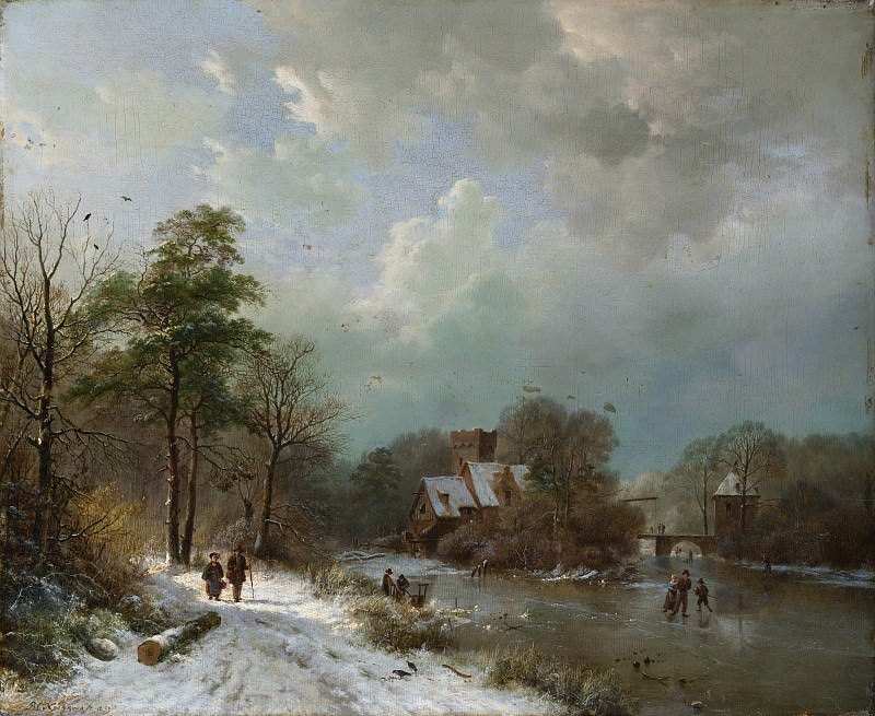 Barend Cornelis Koekkoek - Winter Landscape, Holland. Metropolitan Museum: part 3