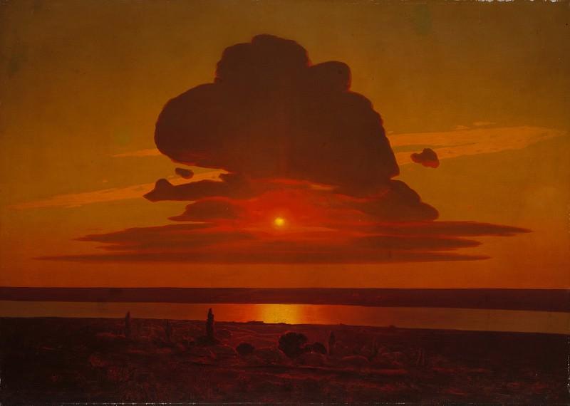 Arkhip Ivanovich Kuindzhi - Red Sunset on the Dnieper. Metropolitan Museum: part 3