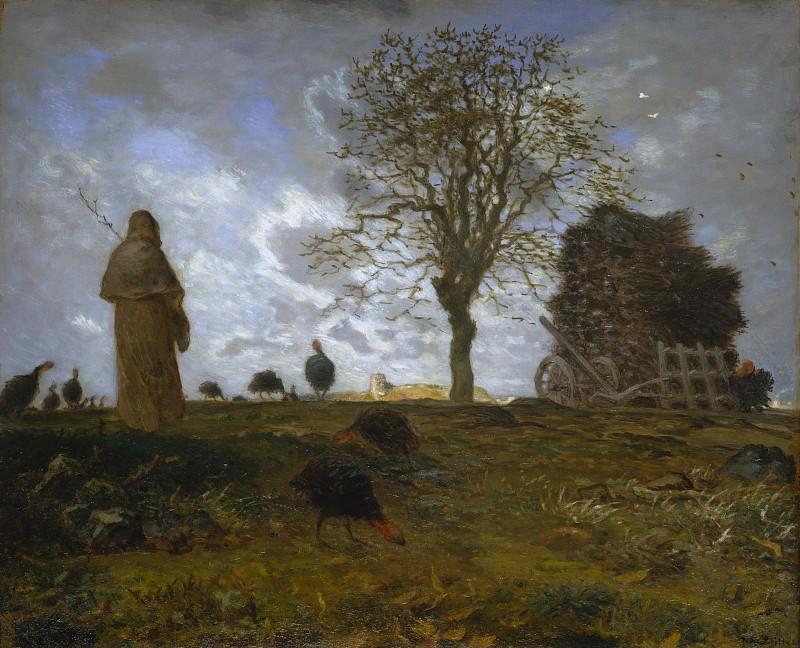 Jean-François Millet - Autumn Landscape with a Flock of Turkeys. Metropolitan Museum: part 3