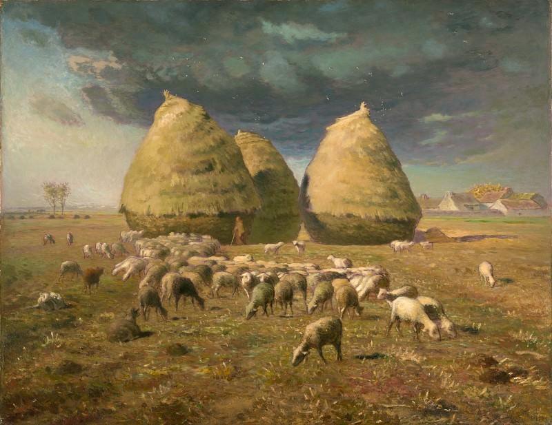 Jean-François Millet - Haystacks: Autumn. Metropolitan Museum: part 3