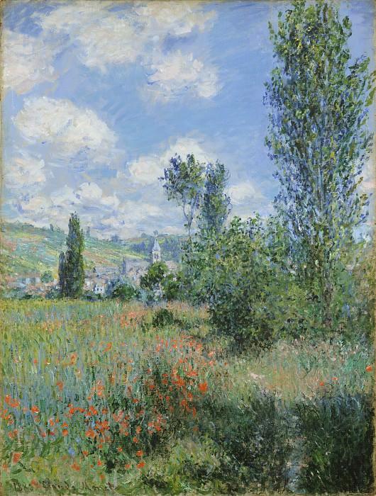 Claude Monet - View of Vétheuil. Metropolitan Museum: part 3