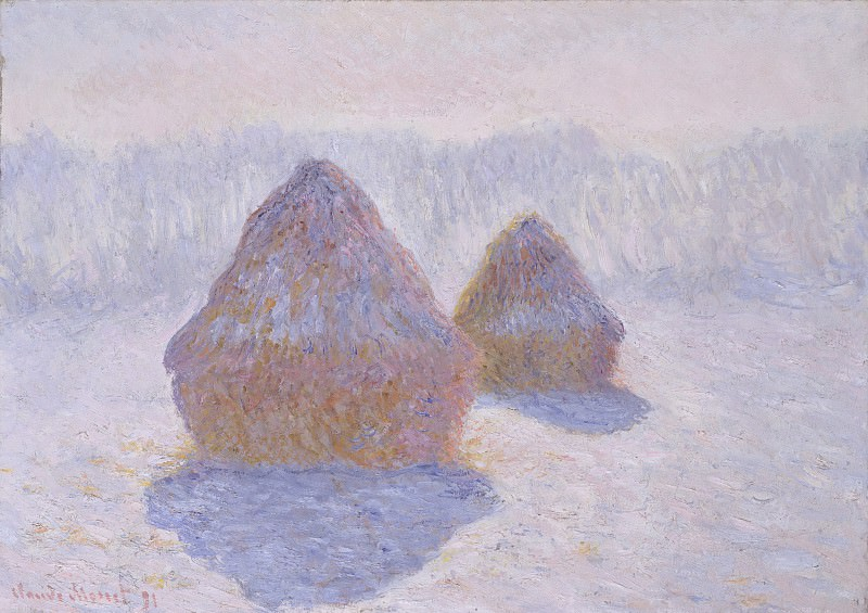 Claude Monet - Haystacks (Effect of Snow and Sun). Metropolitan Museum: part 3