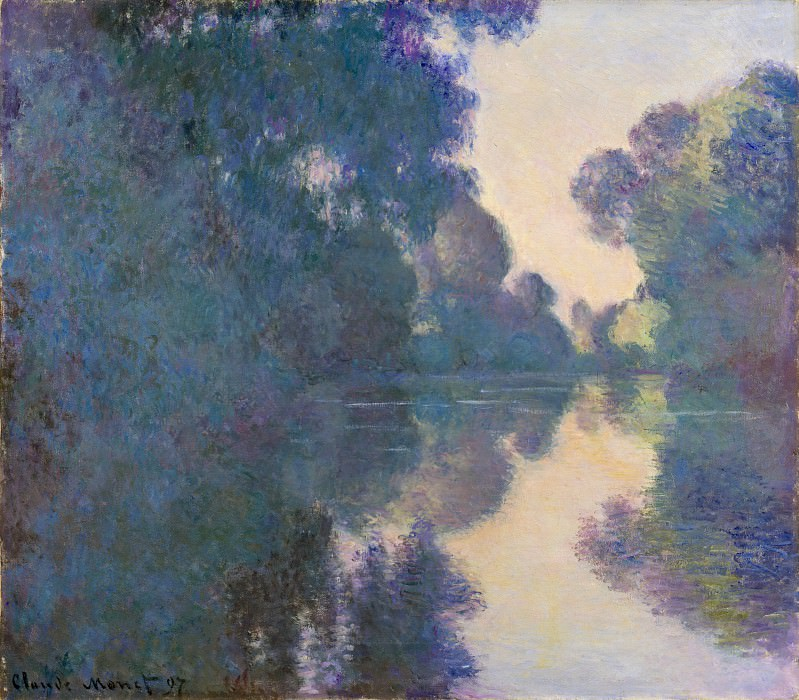 Claude Monet - Morning on the Seine near Giverny. Metropolitan Museum: part 3