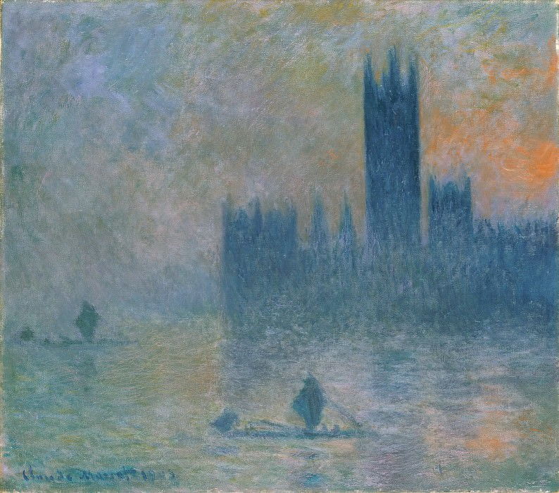 Claude Monet - The Houses of Parliament (Effect of Fog). Metropolitan Museum: part 3