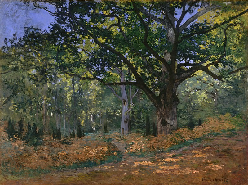 Claude Monet - The Bodmer Oak, Fontainebleau Forest. Metropolitan Museum: part 3