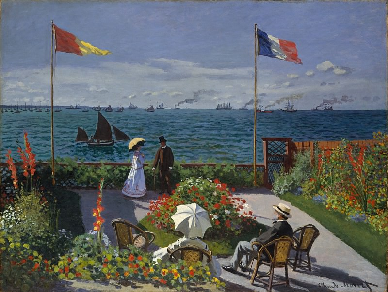 Claude Monet - Garden at Sainte-Adresse. Metropolitan Museum: part 3