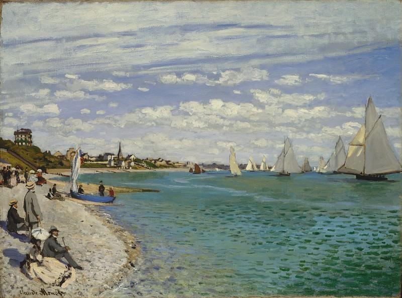 Claude Monet - Regatta at Sainte-Adresse. Metropolitan Museum: part 3