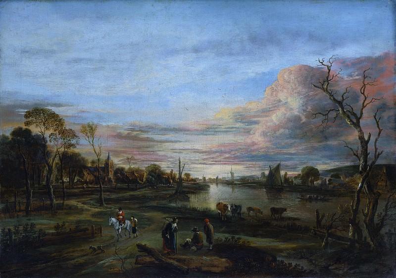 Aert van der Neer - Landscape at Sunset. Metropolitan Museum: part 3