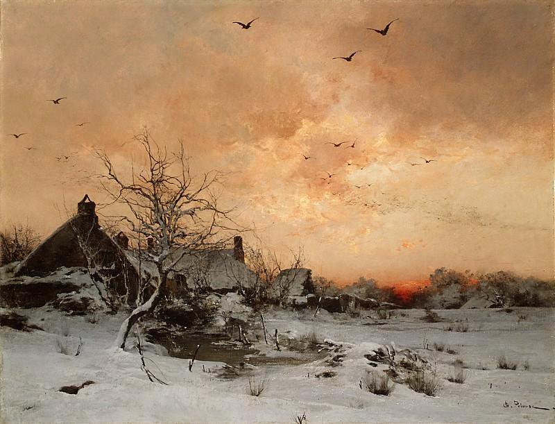 Léon-Germain Pelouse - January: Cernay, near Rambouillet. Metropolitan Museum: part 3