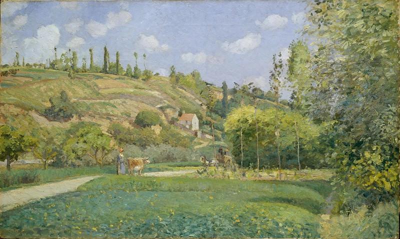 Camille Pissarro - A Cowherd at Valhermeil, Auvers-sur-Oise. Metropolitan Museum: part 3