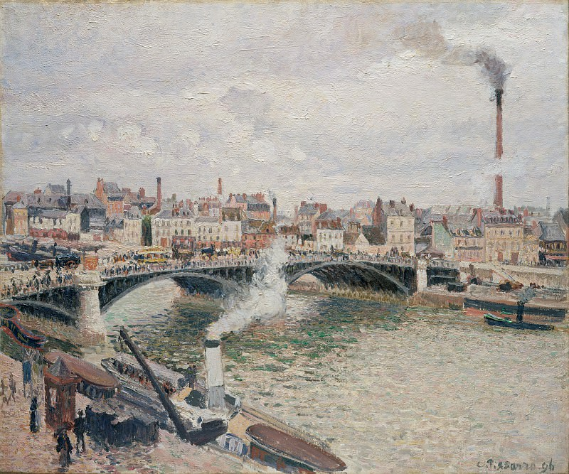 Camille Pissarro - Morning, An Overcast Day, Rouen. Metropolitan Museum: part 3