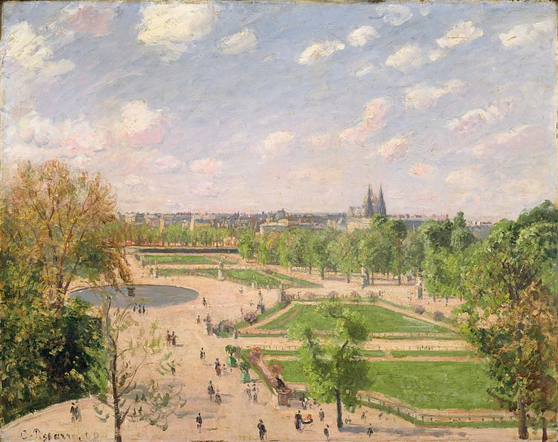 Camille Pissarro - The Garden of the Tuileries on a Spring Morning. Metropolitan Museum: part 3