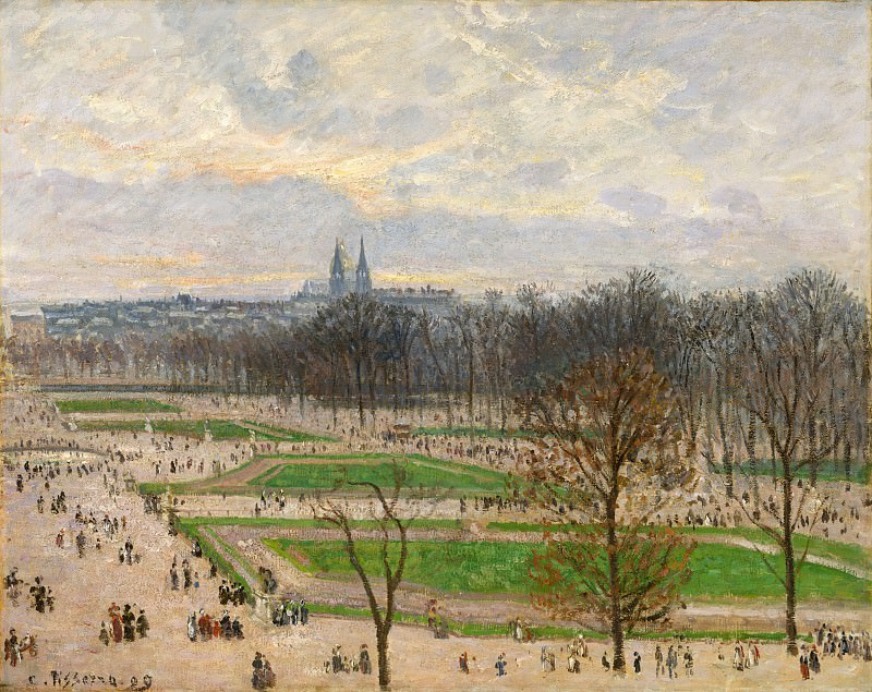 Camille Pissarro - The Garden of the Tuileries on a Winter Afternoon. Metropolitan Museum: part 3