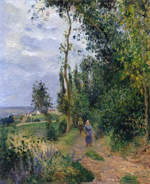 Camille Pissarro - Côte des Grouettes, near Pontoise. Metropolitan Museum: part 3