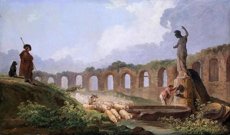 Hubert Robert - Aqueduct in Ruins. Metropolitan Museum: part 3