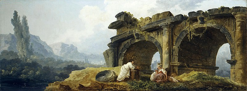Hubert Robert - Arches in Ruins. Metropolitan Museum: part 3