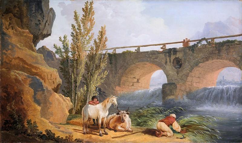 Hubert Robert - Bridge over a Cascade. Metropolitan Museum: part 3
