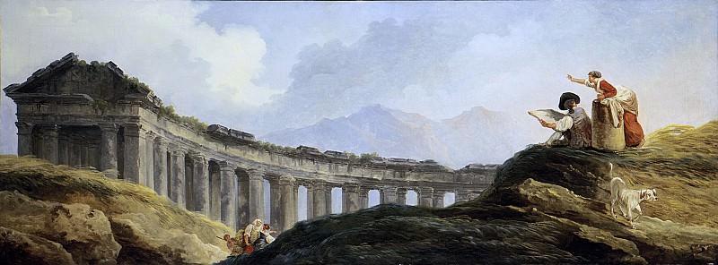 Hubert Robert - A Colonnade in Ruins. Metropolitan Museum: part 3