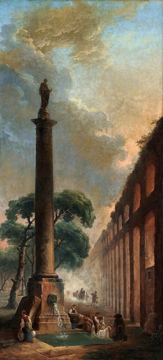 Hubert Robert - The Fountain. Metropolitan Museum: part 3