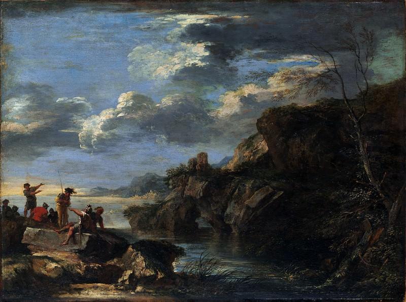 Salvator Rosa 1615–1673 Rome) - Bandits on a Rocky Coast. Metropolitan Museum: part 3