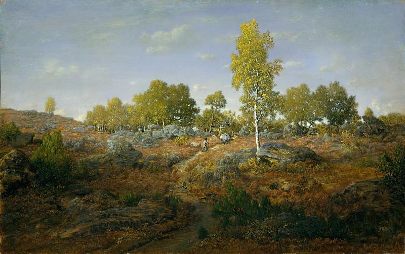 Théodore Rousseau - A Path among the Rocks. Metropolitan Museum: part 3